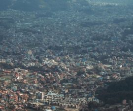bird eye views of Kathmandu