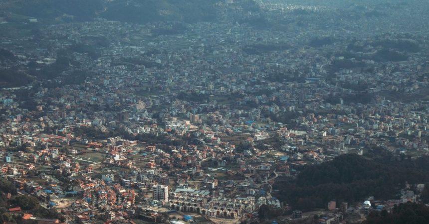 bird eye views of Kathmandu