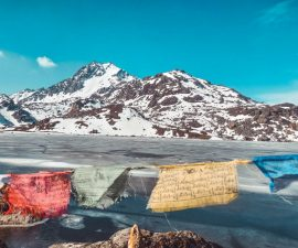 Frozen Gosaikunda Lake